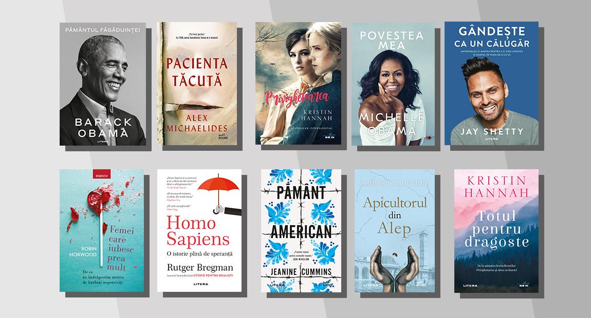Top 10 cele mai citite cărți Litera în ianuarie 2021