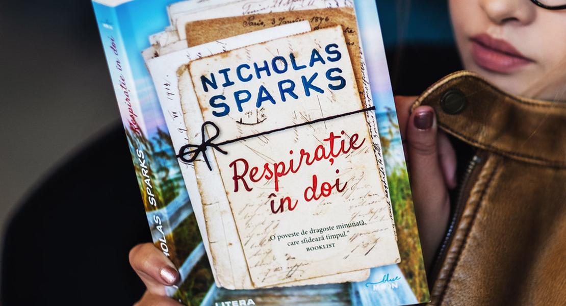 """Bestsellerul săptămânii la Editura Litera: """"Respirație în doi"""" de Nicholas Sparks"""