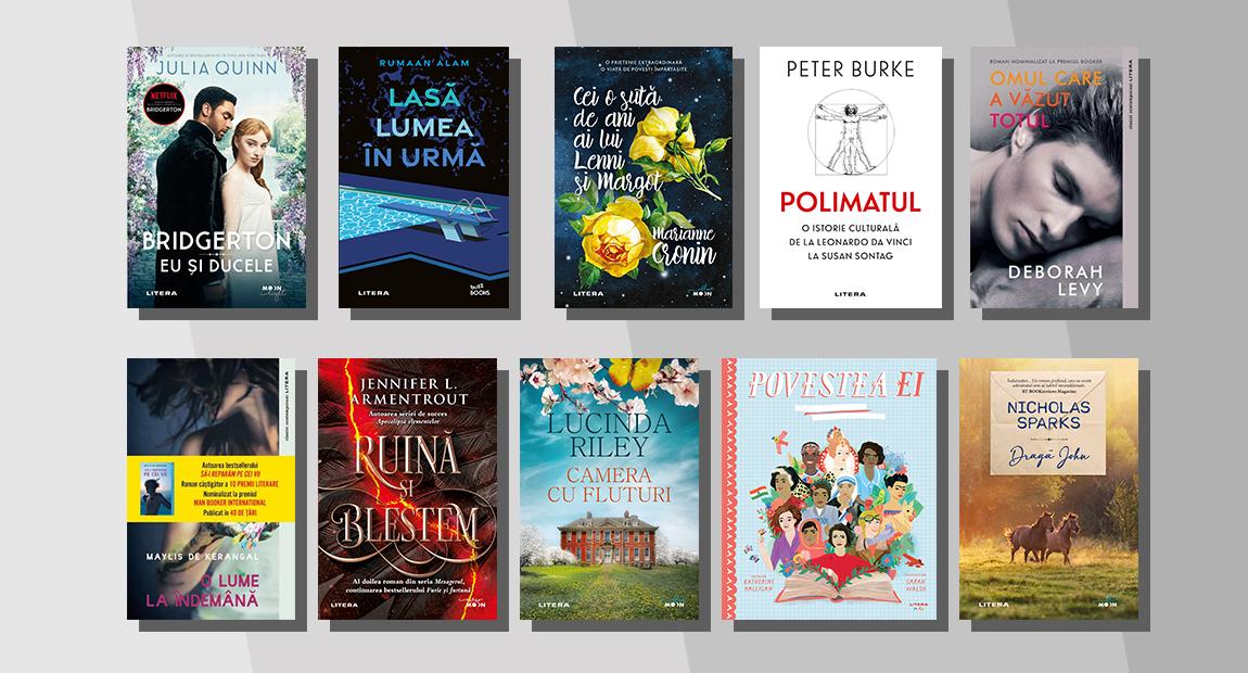 Top 10 cele mai citite cărți Litera în martie 2021