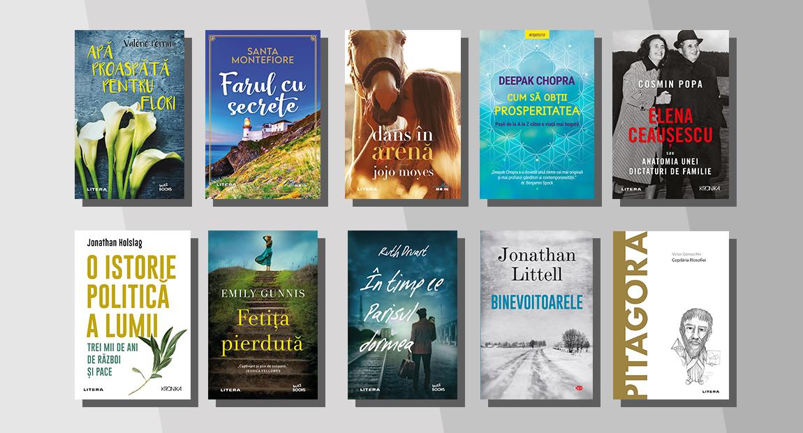 Top 10 cele mai citite cărți Litera în luna aprilie 2021