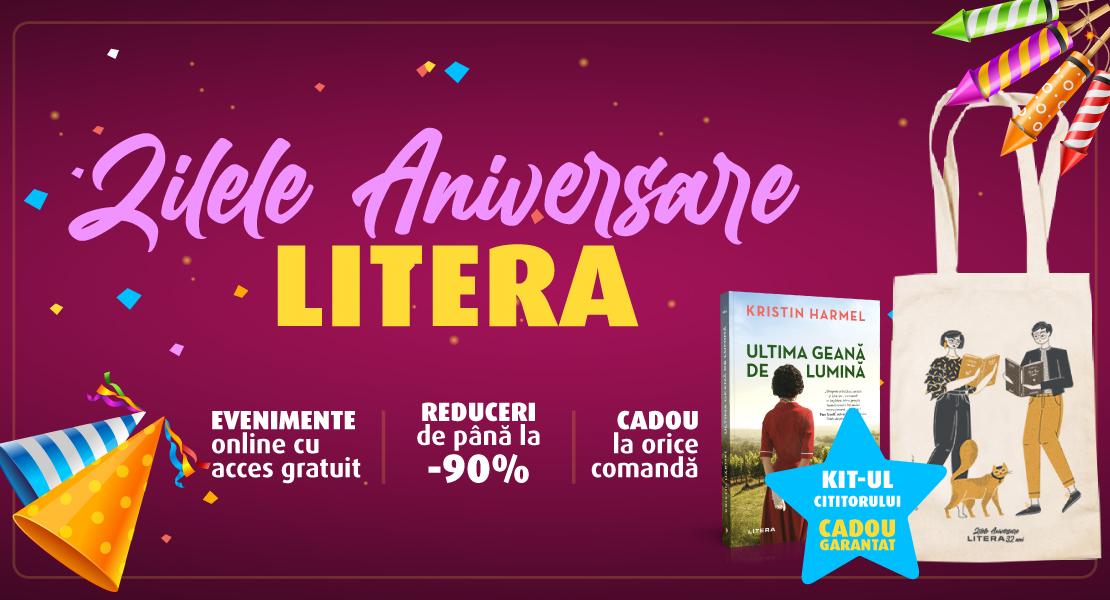 Editura Litera împlinește 32 de ani! De ziua editurii te invităm la Zilele aniversare pe litera.ro