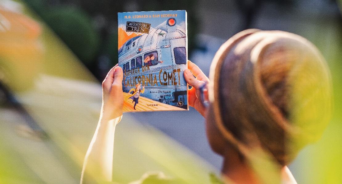"""Bestsellerul săptămânii pe Litera.ro: """"Aventuri în tren. Răpirea din California Comet"""" de M.G. Leonard"""