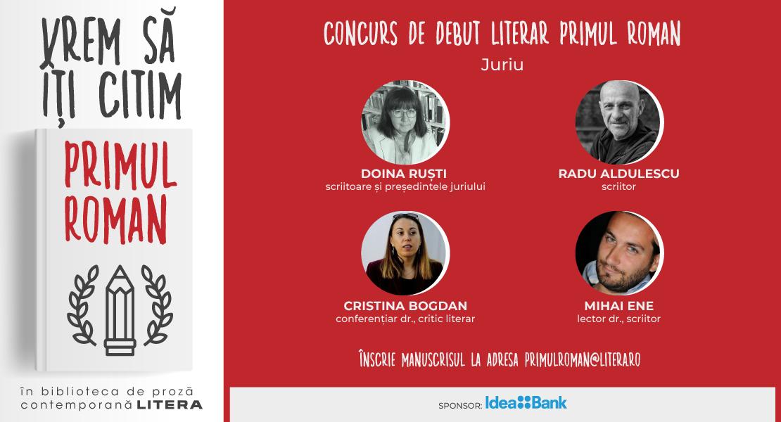 """Cine este juriul concursului de debut literar """"Primul roman"""""""