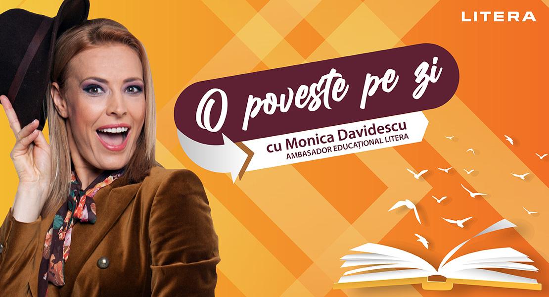 """Monica Davidescu, ambasador educațional al Editurii Litera și gazdă a proiectului """"O poveste pe zi""""!"""