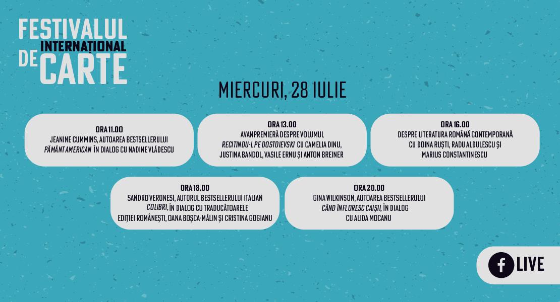 Festivalul Internațional de Carte: program ziua I
