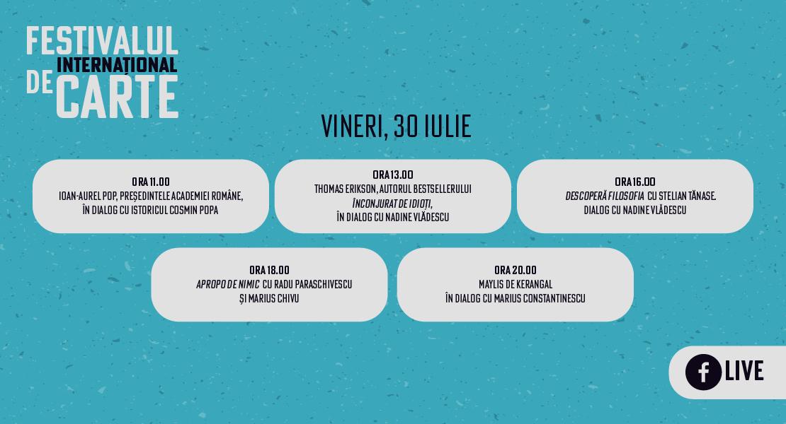 Festivalul Internațional de Carte: program ziua III