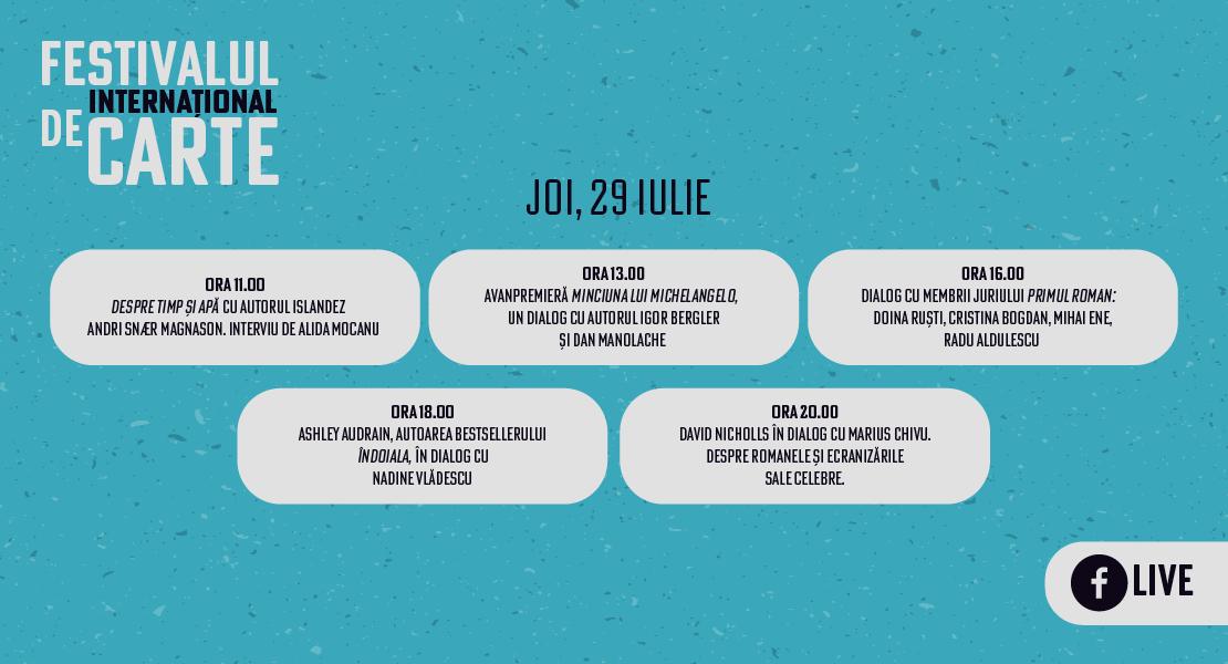 Festivalul Internațional de Carte: program ziua II
