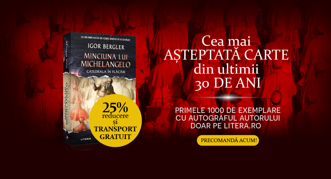 """Precomandă """"Minciuna lui Michelangelo. Catedrala în flăcări"""" de Igor Bergler cu autograful autorului și 25% reducere"""