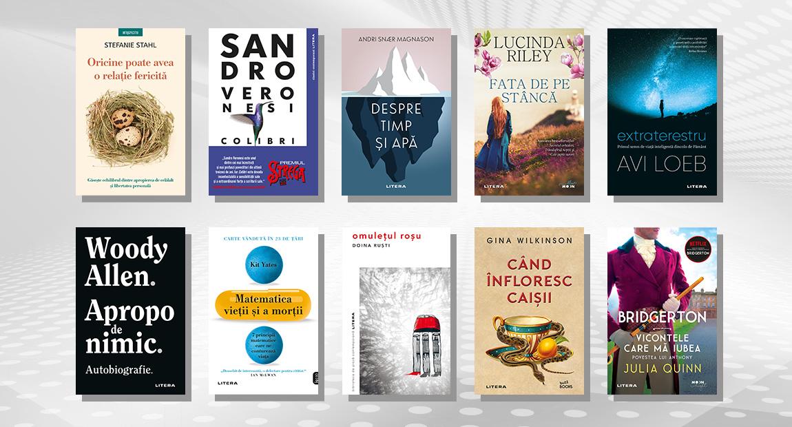 Top 10 cele mai citite cărți Litera în luna iunie 2021
