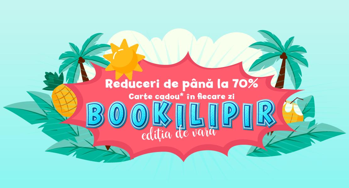 A început Bookilipir – ediția de vară. Te așteaptă reduceri de până la 70% și o carte cadou în fiecare zi