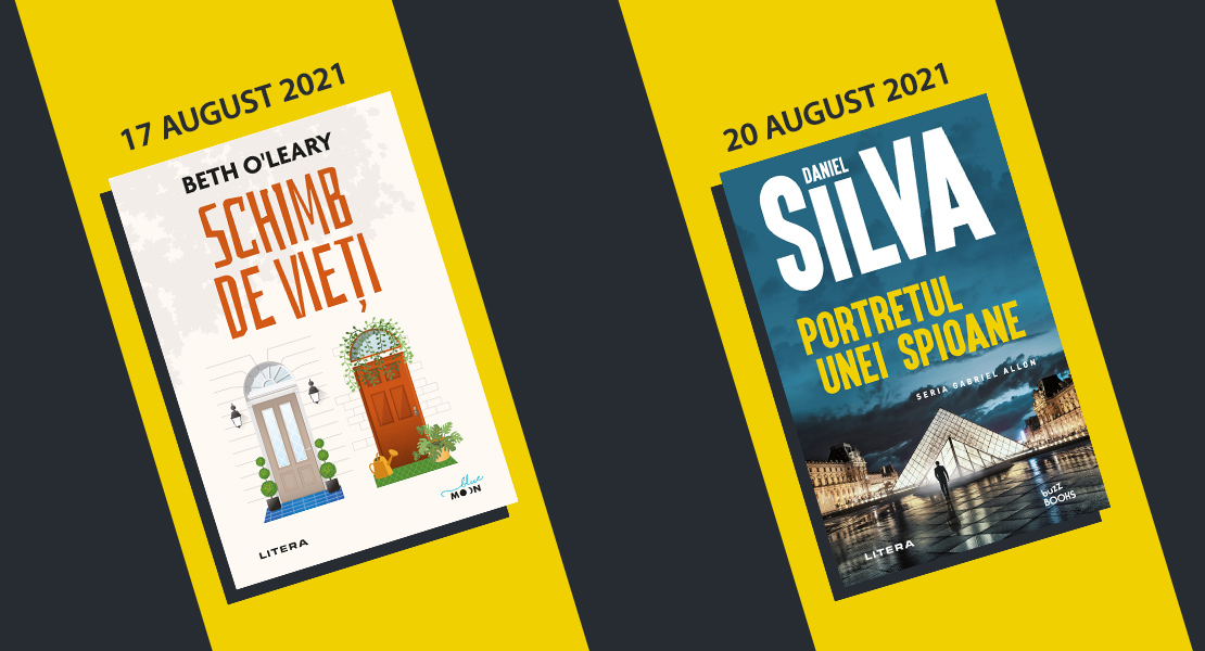 Săptămâna 16 – 22 august 2021. Titluri Litera disponibile la toate chioșcurile de presă din țară
