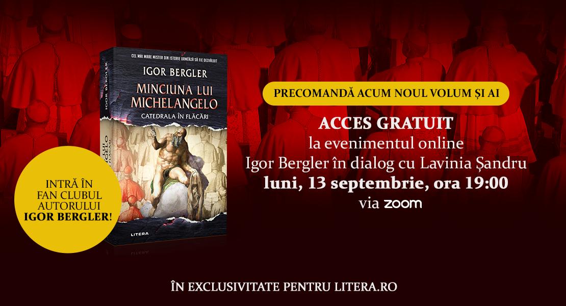 """Precomandă acum volumul """"Minciuna lui Michelangelo. Catedrala în flăcări"""" și ai acces exclusiv la o întâlnire cu autorul!"""